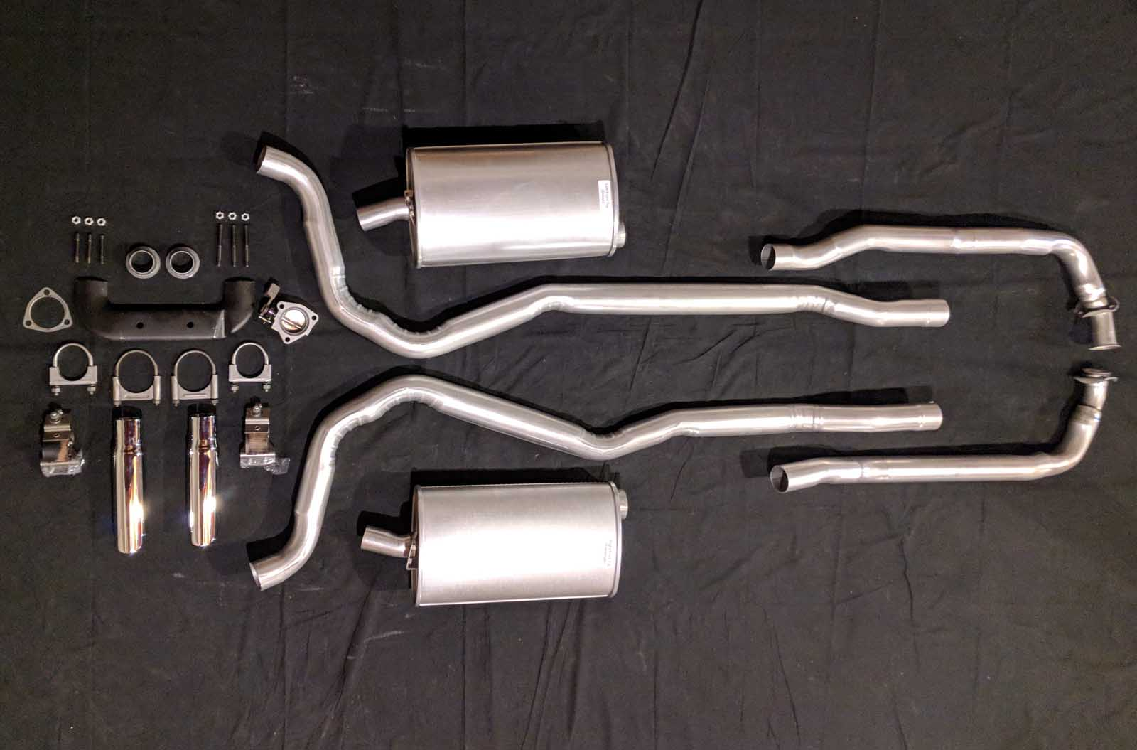 1968 Corvette Small Block Hp Manual Exhaust System Muscle Car Exhaust Systems